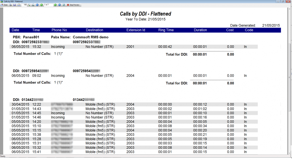 Express-Report-Calls-by-DDI